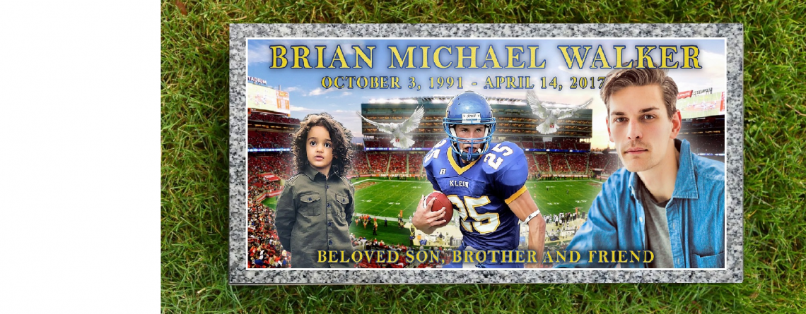 Headstone With Full Color Ceramic Tile